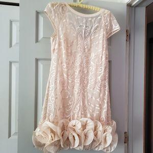 Jessica Simpson cream dress